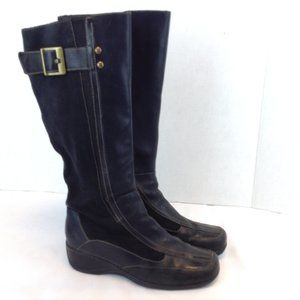 Naturalizer 'Amerie' Black Suede & Leather Boots